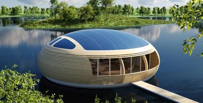 خانهای شناور با قابلیت استفاده از انرژی خورشیدی