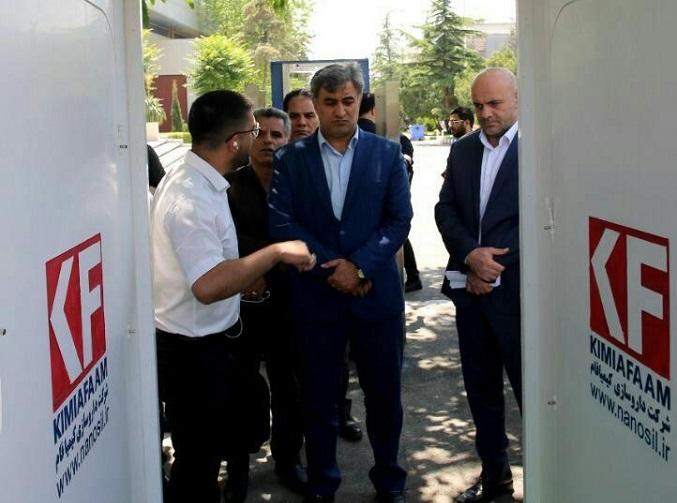 تجهیز نمایشگاه بینالمللی تهران به تونل ضدعفونی
